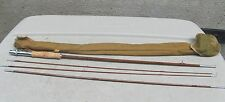 """VINTAGE  HORROCKS IBBOTSON CO  8'6"""" 4 PIECE BAMBOO FLY ROD AND CANVAS BAG"""