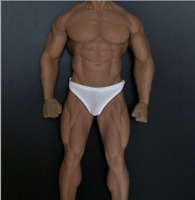 1/6 Scale Male White Briefs Underwear Clothes Fit 12'' M35 Muscular Body Doll