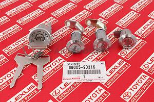 Toyota Land Cruiser FJ40 FJ43 FJ45 BJ40 OEM Ignition Cylinder Lock w/ Keys SET
