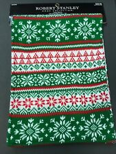 Nwt, Robert Stanley Home Collection Table Runner Christmas Snowflakes 72x13in