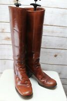 Brown Leather 6 1/2 B Women's Vintage Knee High Boots