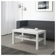 IKEA Lack White Couch Sofa Coffee Table With Shelf/Cabinet Living Room