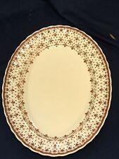 """LARGE Spode Fleur de Lis Brown Platter 14 5/8  x 11 1/4"""""""
