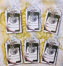Christmas~Vintage Ornament~6 Hang Tags~Scrapbook~Gifts~#183~judysjemscrafts