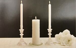 NEW  3 Piece Wedding Unity Candle Set - Pearl Drops Design -  Unfragranced