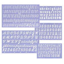5x Beschriftungsschablone Beschriftung Schablonen Schriftzeichen Schablone Logos