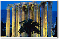Temple of Zeus at Mt. Olympia Greece - Mythology Europe Travel - New Poster