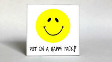 Happy, Inspiration, Smiley Face Quote Magnet