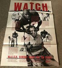 Vintage DERRICK THOMAS Original 1990s ESPN POSTER CORTEZ KENNEDY RARE
