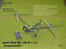 """Focke Wulf Fw 190 A-11/ts """"Tragschrauber""""  1/72 Bird Models Mischbausatz/mix kit"""