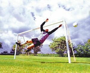 FOOTIE GRASS GOAL POSTS - UPVC GOALS BUILT TO LAST - FREE DELIVERY