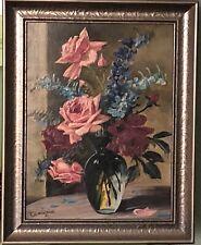Ölgemälde Ölbild alt antik - Stillleben Rosen Blumen