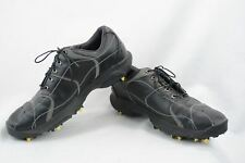 Oakley BOW TYE Mens 9 Golf Shoes Black Leather new soft spikes U53