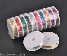 10Rolls 110meters 0.4mm Copper Wrap Craft Wire Jewelry Making Finding Charms Mix