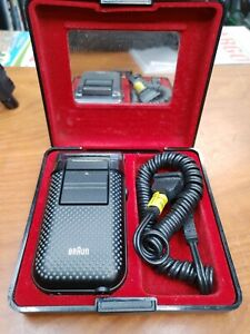 Vintage Electric Shaver BRAUN Micron Vario 5422 With Case  S-35 Case Made in Ger
