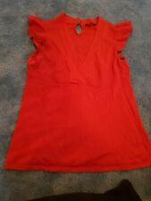 Ted Baker Red V Neck T-shirt Size 2 (10)