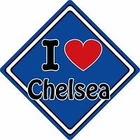 I Love Arsenal Car Sign ~ Support Your Town//City ~ Football//Rugby//Cricket