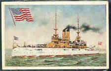 pc5331 postcard Battleship Illinois MOBSC 1909