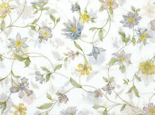 Wildflower Tissue Paper on White # 335 ~ 10 Large Sheets