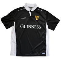 Rugby Shirt Black and White Guinness Performance Short Sleeve