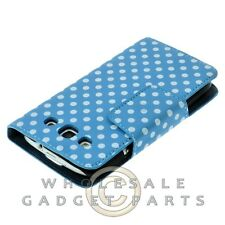 Samsung i9300 Galaxy S3 Wallet Pouch Polka Dots Light Blue/White Case Cover