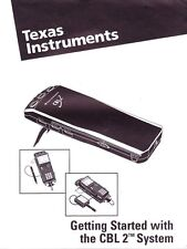 Texas Instruments Getting Started w Cbl 2 System User'S Manual Lab Data Collecti