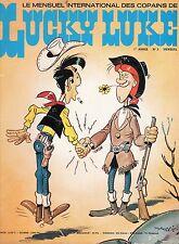 LUCKY LUKE NUMERO 3  SUPER  RARE ANNEE 1974 (SANS LE POSTER CENTRAL)