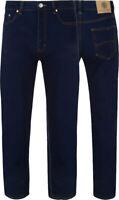 KAM Mens Plus Size Jeans Stretch Big Tall King Denim Blue Regular Waist 40 - 60