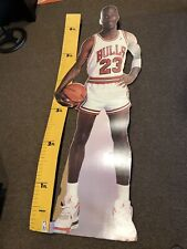 MICHAEL JORDAN 1987 VINTAGE LIFE SIZE MEASURE UP CARDBOARD CUT OUT DISPLAY