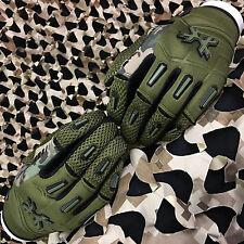 New Hk Army Full Finger Hardline Paintball Gloves - Olive Hstl Camo - Small