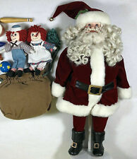 "Danbury Mint 17"" Christmas Santa Claus ""Santa's Special Delivery"" Doll - In Box!"