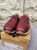 Designer Men's Smart Cavani Bordeaux Lace Up Casual Trainers Sneakers Shoes