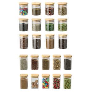 Square /Round Spice Jar Kitchen Storage Organiser Jars Glass Jars Candy Jar