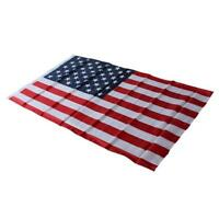 American Flag USA US Sewn Stripes Embroidered Stars Brass Grommets LP