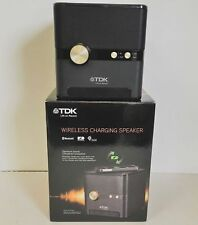 TDK Life On Record Q35 Bluetooth Wireless Charging Speaker Black Subwoofer Qi