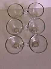 Clear Glass Dessert Parfait Espresso Tea Cups 3 Fluid OZ Shot Glass / Handle (6)