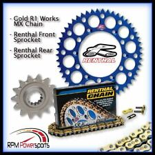 Renthal 520 Chain & 13-49 Sprocket Kit Blue For 2006-2009 Yamaha YZ450F