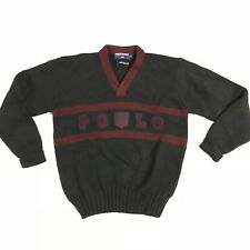 Vintage POLO Sport Ralph Lauren Wool Knit sweater crest shield ski 1992 stadium