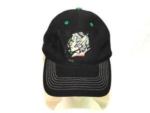 North Dakota Fighting Sioux Hat Black ND Strap Back Cap Fan Favorite Adjustable