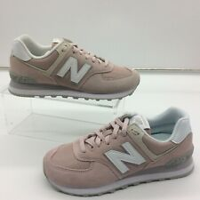 NEW BALANCE LADIES UK 6 EU 39 574 SUEDE PINK TRAINERS WHITE GREY RRP £80 C