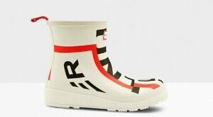 HUNTER Women's Original Play Short Exploded Logo Rain Boots SZ 9 NIB