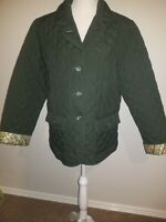 Van heusen  green women  jacket Size  M bottom down collar