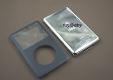 black front faceplate lens back case housing cover for ipod 6th classic 80gb