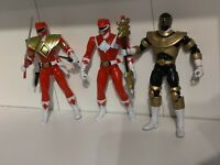 Power Rangers Legacy Armoured Red Custom Gold And Red Ranger lot