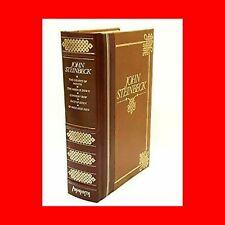 BROWN LEATH BOOK%JOHN STEINBECK-GRAPES WRATH+MICE MEN+EAST EDEN+CANNERY ROW+MOON