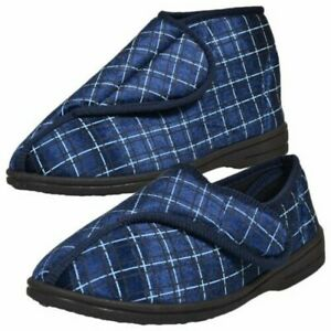 Mens Diabetic Bootie Orthopaedic Wide Shoes Fit Fully Washable Slipper Boots UK