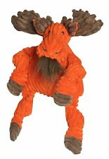 HuggleHounds Plush Corduroy Durable Knottie Moose Dog Toy