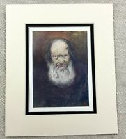 1905 Antique Print Portrait of an Old Man Telemark Norway Norwegian Painting