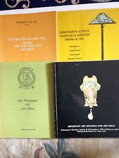 5 (FIVE) ART NOUVEAU -  ART DECO CATALOGS - 4  SOTHEBY & 1 CHRISTIE'S