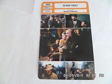 CARTE FICHE CINEMA 2005 OLIVER TWIST Ben Kingsley Barney Clark Leanne Rowe